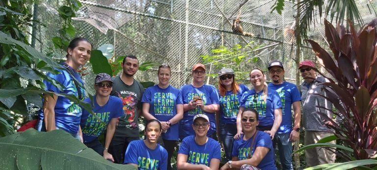 Corporate Volunteering with wild animals