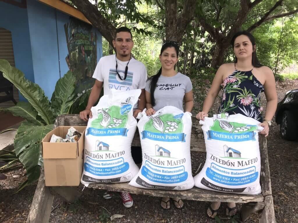 Donativos de alimentos para animales silvestres